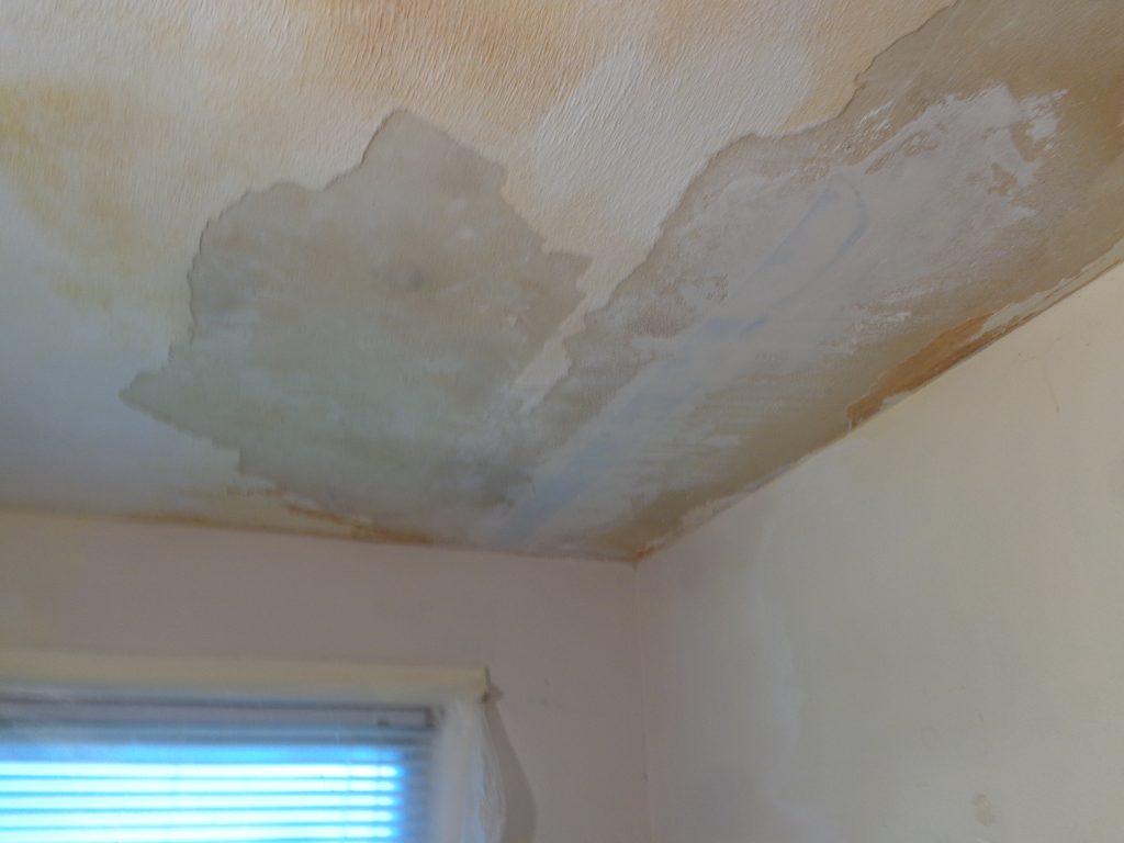 Before: ceiling repair