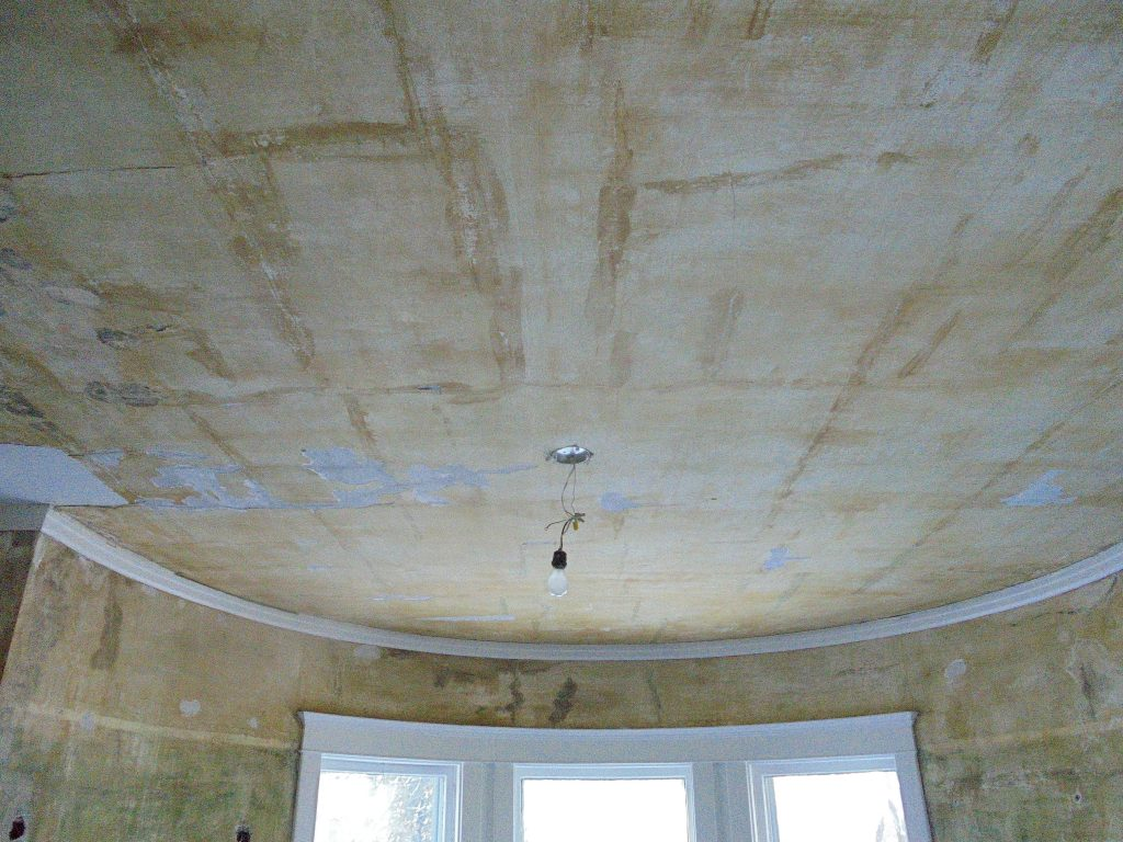 Before: Resurfacing a ceiling