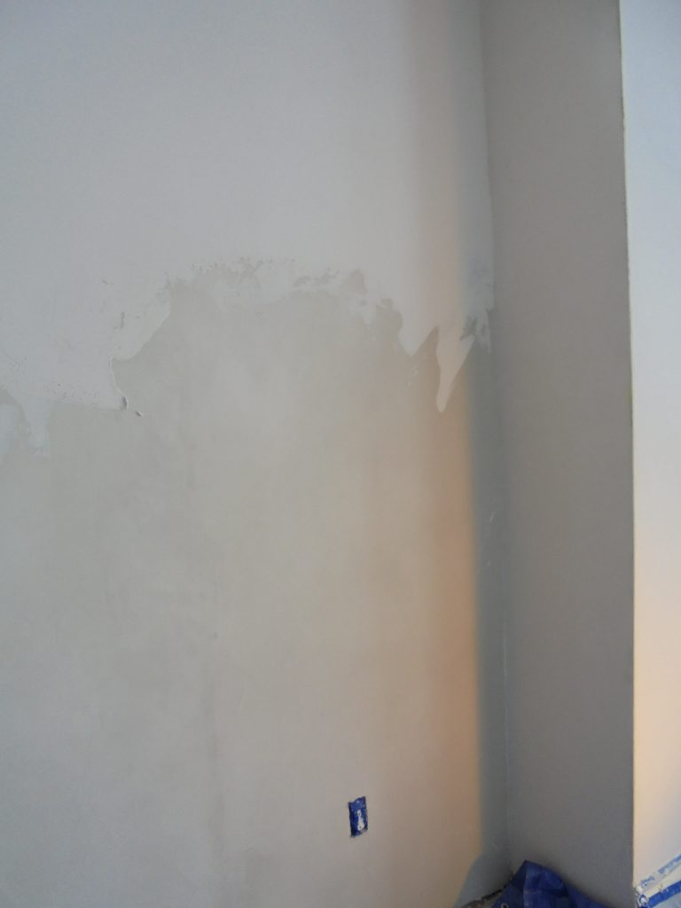 During: the first layer of plaster